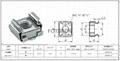 卡式螺母 M8碳鋼鍍鋅,與皇冠螺釘配合使用 4