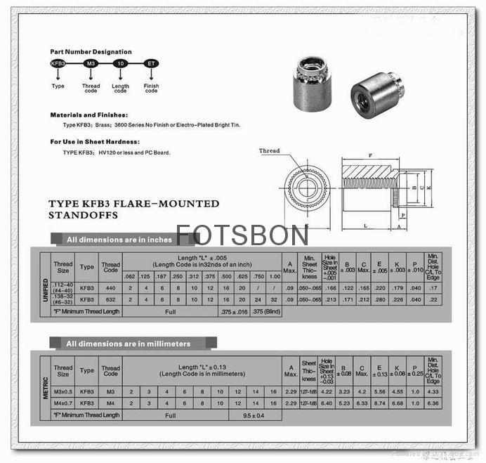 擠壓螺母|擠壓螺母KF2 KFS2|擠壓螺母柱KFE KFSE 8