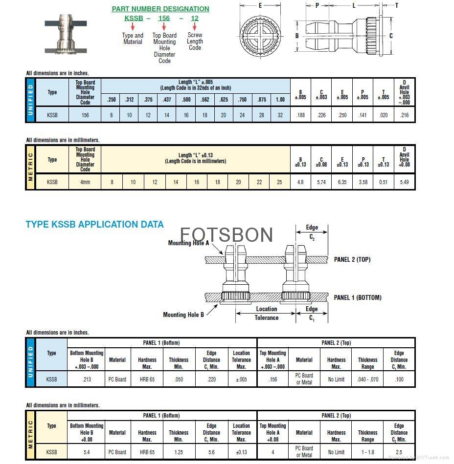 擠壓螺母|擠壓螺母KF2 KFS2|擠壓螺母柱KFE KFSE 5