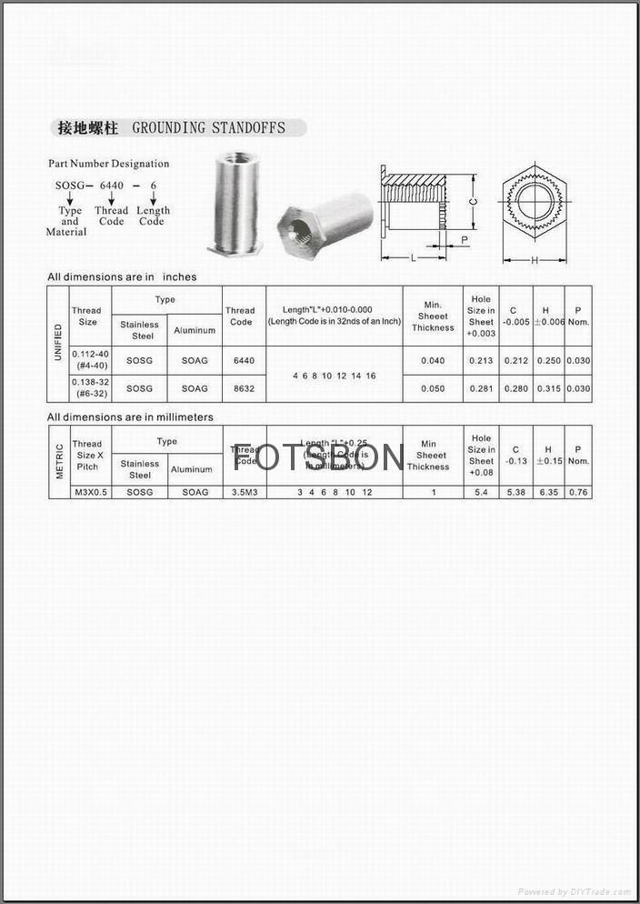 擠壓螺母|擠壓螺母KF2 KFS2|擠壓螺母柱KFE KFSE 3