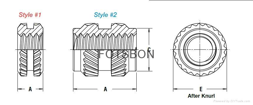 銅鑲嵌螺母MSIB-M1.4-300 2