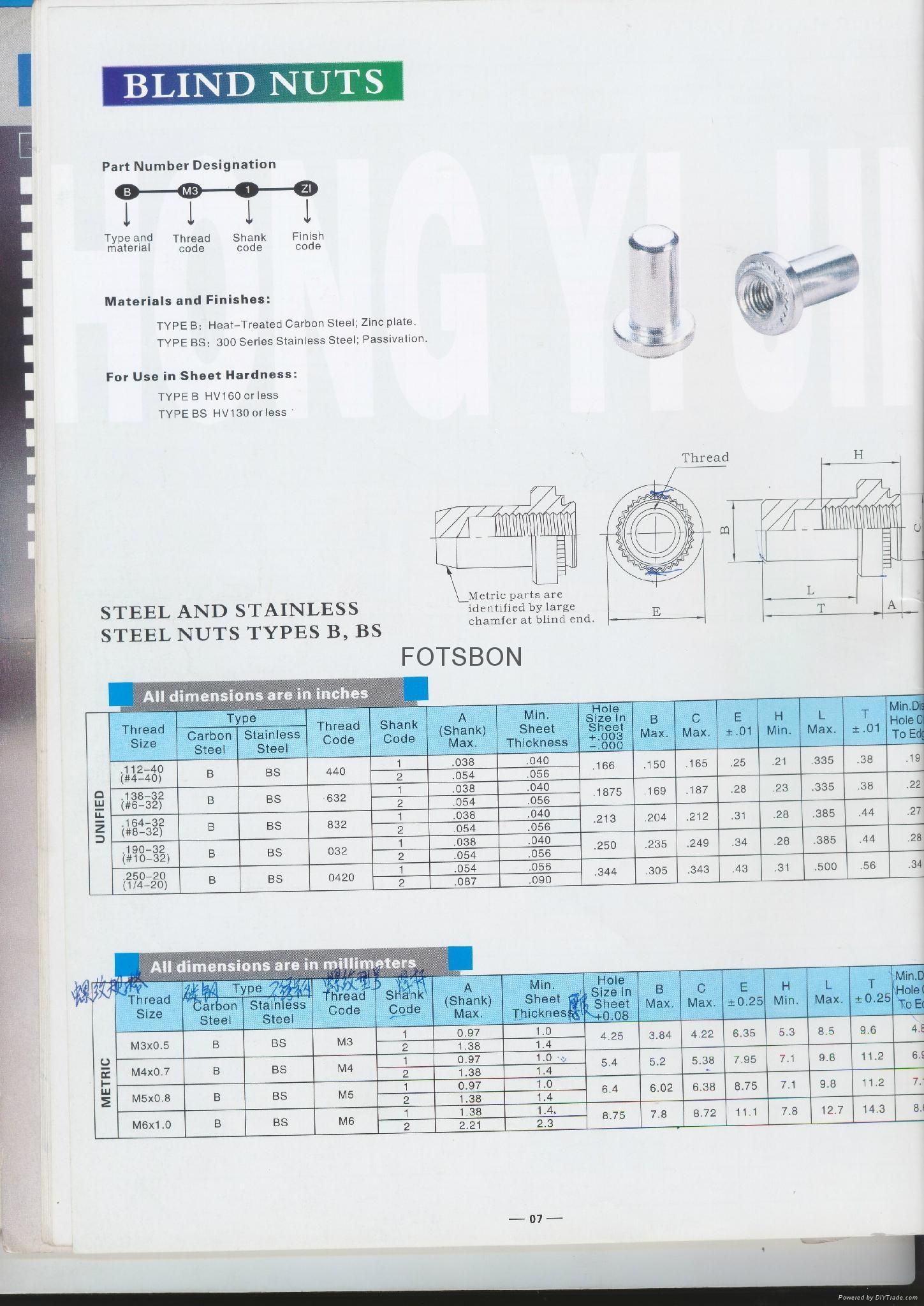 BS-M6-1盲孔压铆螺母 5