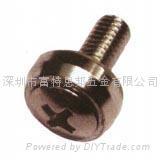 皇冠螺釘 與卡式螺母配合使用,多用於機箱機櫃鈑金