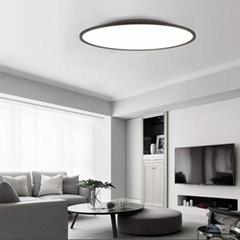 800MM大圓形明裝LED面板燈免開孔客廳吸頂燈 明裝圓形面板燈廠家