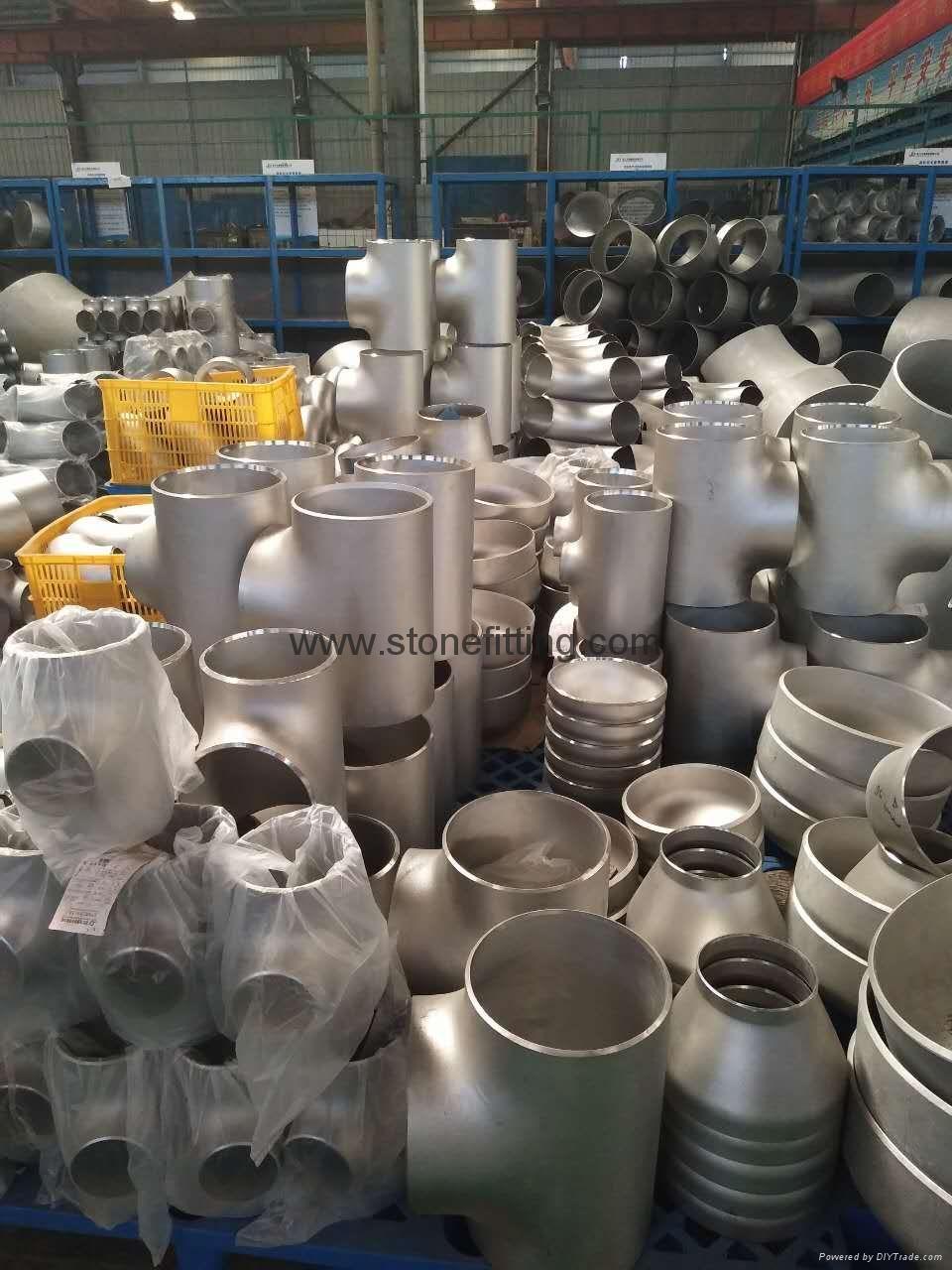 ASTM A403 WP304 WP304L WP316 WP316L reducing Tee 4