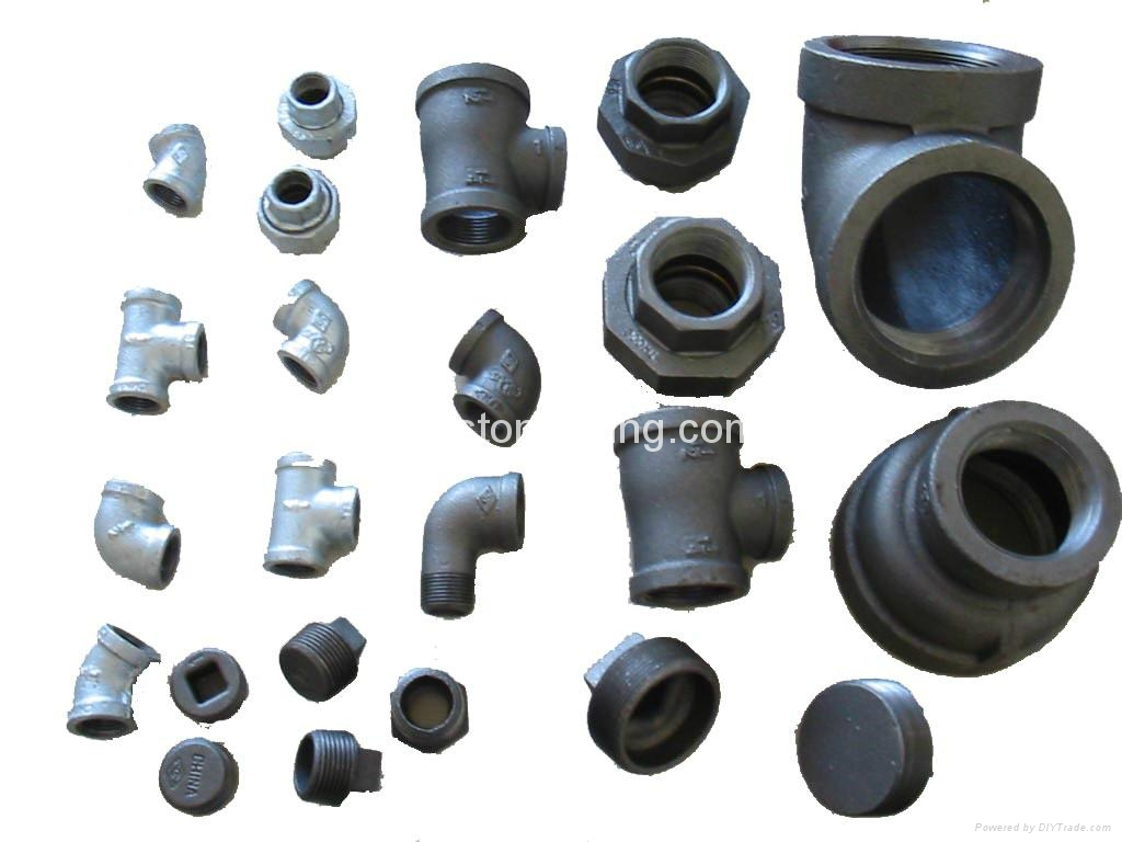 Galvanized black malleable iron pipe fitting china