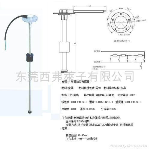 汽车油箱油位传感器 1