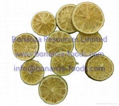 Kosher certified chinese dried fruits lyophilized fruit freeze dried lemon chips
