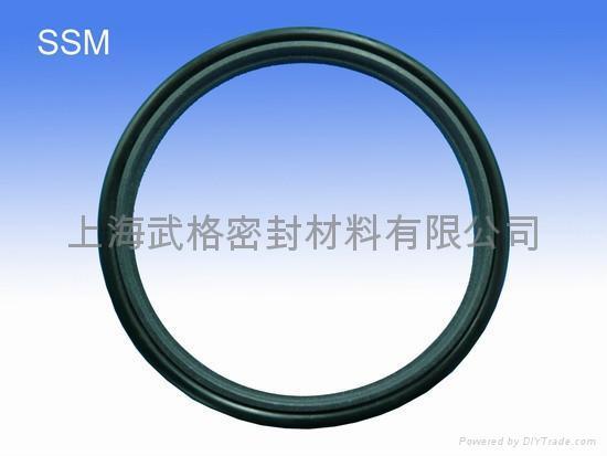 活塞杆(轴)用 SSM型 聚四氟乙烯+丁腈橡胶 密封圈 2