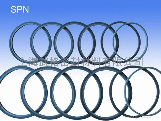 活塞杆(轴)用 SPN 聚四氟乙烯+丁腈橡胶 密封圈 2