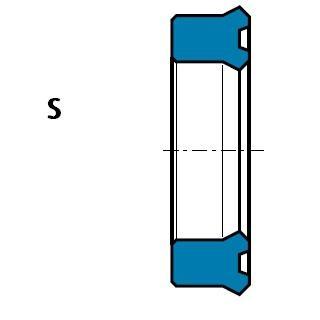 活塞杆(軸)用 S型 聚氨酯 擠壓密封圈 1