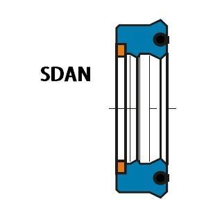 活塞杆(轴)用 SDAN型 聚氨酯+丁腈橡胶 加强型双唇挤压密封圈 1