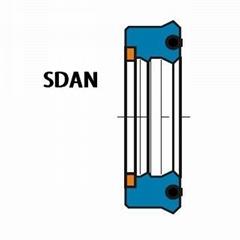 活塞杆(轴)用 SDAN型 聚氨酯+丁腈橡胶 加强型双唇挤压密封圈