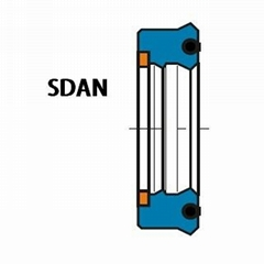SDAN Semicompact Rod Seal With Anti-extrusion Ring And Energizing Element