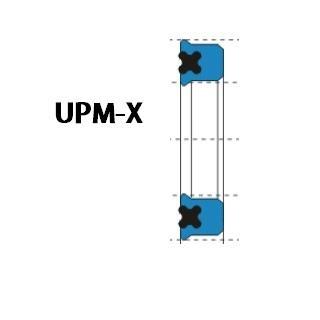 活塞/活塞杆(孔/軸)用 UPM-X型 聚氨酯+丁腈橡膠 密封圈 1