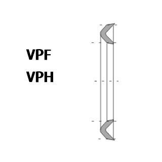 活塞/活塞杆(孔/轴)用 VPF/VPH型 夹布丁腈橡胶 密封圈 1