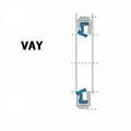 液压防尘 VAY型 定睛橡胶+金属环 密封圈 1