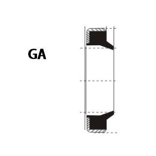 液压防尘 GA型 丁腈橡胶+金属环 密封圈 1
