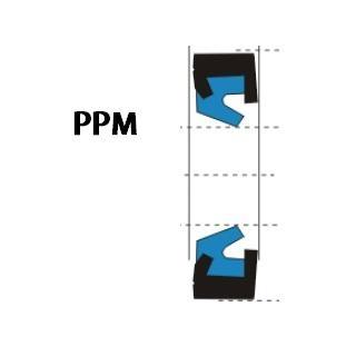 液压防尘 PPM型 聚氨酯+金属环 密封圈 1