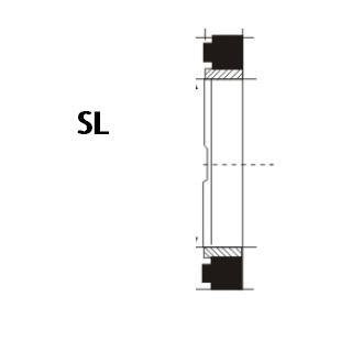 液压缓冲环 SL型 丁腈橡胶+尼龙 密封圈 1