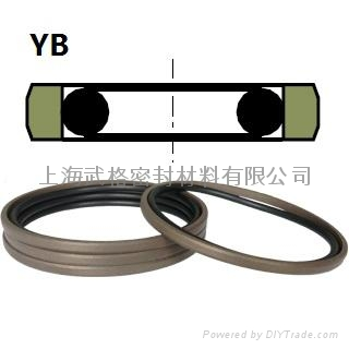 活塞(孔)用YB型  聚四氟+丁腈橡膠 密封圈 1