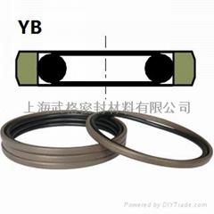 活塞(孔)用YB型  聚四氟+丁腈橡胶 密封圈