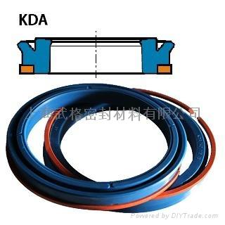 活塞(孔)用KDA型 聚氨酯加挡圈Y型圈 1
