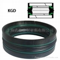 KGD Double Acting Piston Seal With Wear