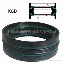 活塞(孔)用KGD型 丁腈橡胶+热塑性聚酯树脂+缩醛树脂 组合式密封圈