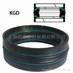 KGD Double Acting Piston Seal With Wear Rings
