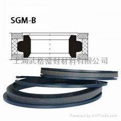 活塞(孔)用SGM-B型 聚四氟乙烯+尼龙+丁腈橡胶 组合密封圈