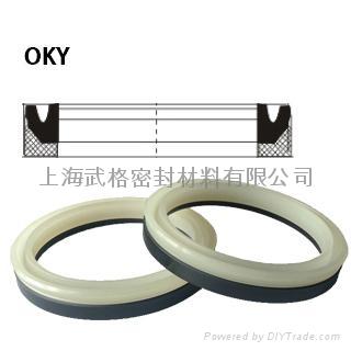 活塞(孔)用OKY型 聚氨酯+尼龙 密封圈 1