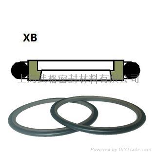 活塞杆(軸)用XB型 聚四氟乙烯+丁腈橡膠 斯特封 1