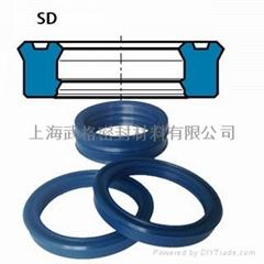 活塞杆(轴)用SD型 聚氨酯 双唇挤压密封圈