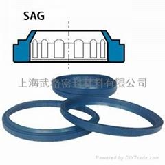 液压防尘SAG型 聚氨酯 带台阶密封圈