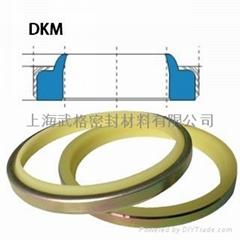 液压防尘DKM型 聚氨酯+金属环 密封圈