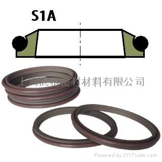 液压防尘S1A型 聚四氟乙烯+丁腈橡胶 单纯四氟密封圈 1