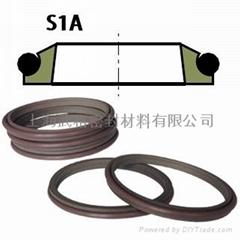 液壓防塵S1A型 聚四氟乙烯+丁腈橡膠 單純四氟密封圈