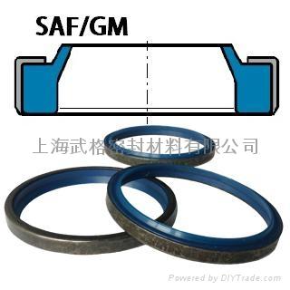 液压防尘SAF/GM型 聚氨酯+金属骨架 密封圈 1