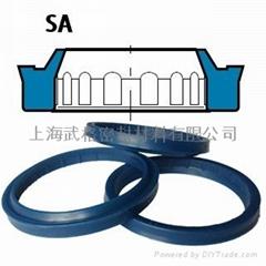 液压防尘SA型 聚氨酯 单唇密封圈