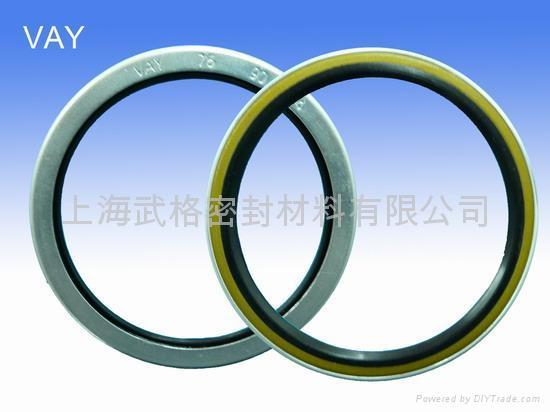 液壓防塵 VAY型 定睛橡膠+金屬環 密封圈 2