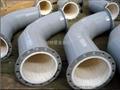水泥厂耐磨衬瓷管道
