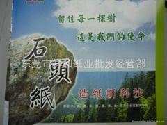 Environmentally friendly paper stone