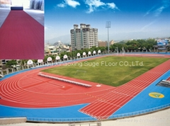 IAAF certified Prefabricated Rubber Running Field Floor