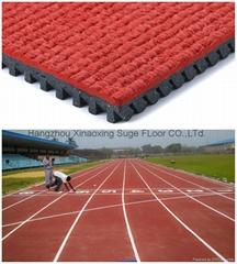 IAAF certified Prefabricated Rubber Running Flooring
