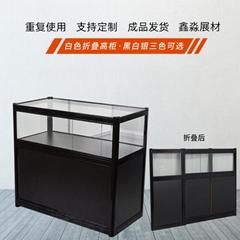 折叠玻璃柜子 酒店会展专用临时铝合金玻璃折叠柜
