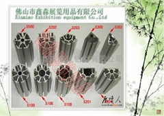 exhibition profiles  post upright post eight way pole. upright post