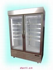 立式低温玻璃门冰箱