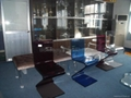 acrylic Z-shaped lucite chair ,pelxiglass clear chair 2