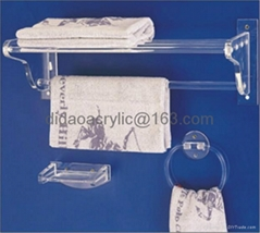 acrylic towel rack, plexiglass towel rak set